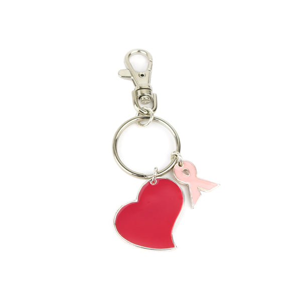 BREASTCANCER HEART KEYCHAIN