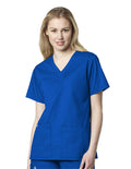 Women's V-Neck Top 101 - Blue Family