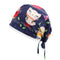 Owl Rain Navy Printed Surgical Hat