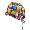 Colored Frog Printed Surgical Hat