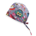 Owl Gray Printed Surgical Hat