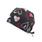 Love Heart Black Printed Surgical Hat