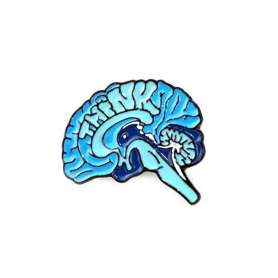 Think Brain Pin