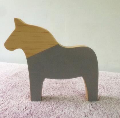 Lovely Nordic Wooden Horse Figurines – SprusUp XM16