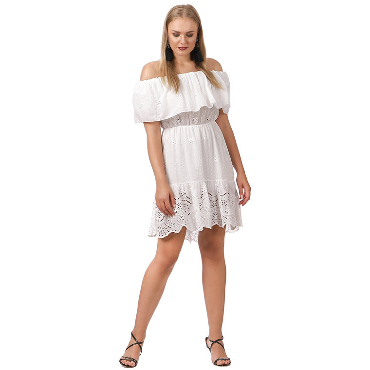 White Bardot Dress ( Beach )