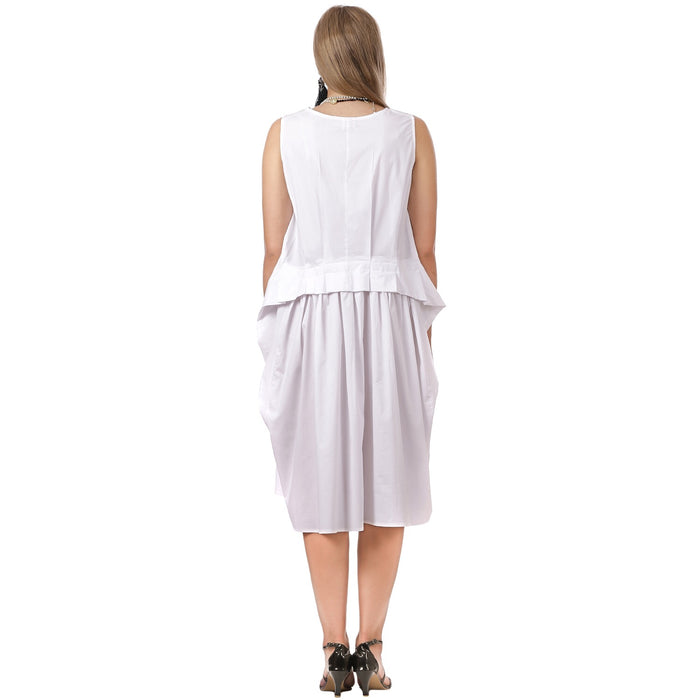 White Cotton Dress ( Resort )PLUS