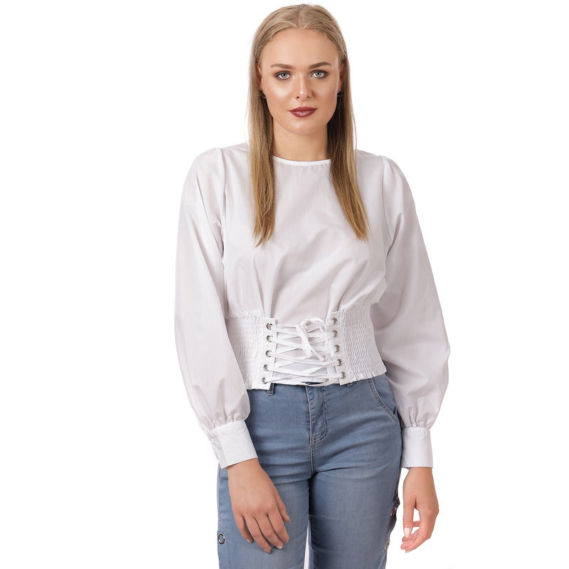 White Criss Cross Shirt