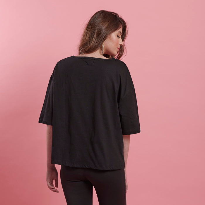 Black Stone Tee Shirt top