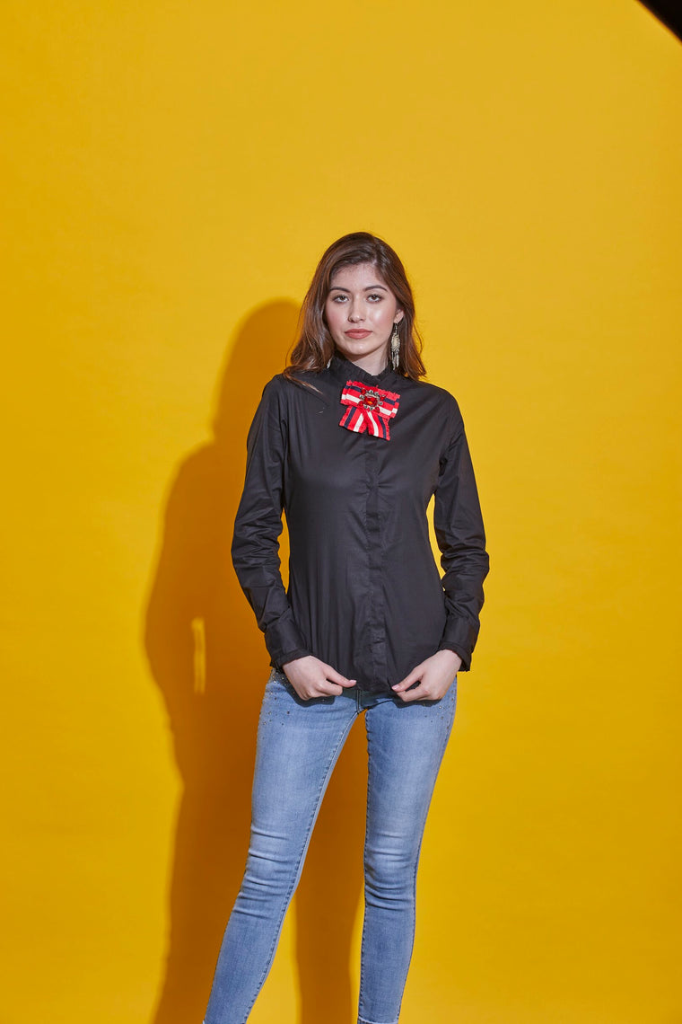 Black Bow Shirt