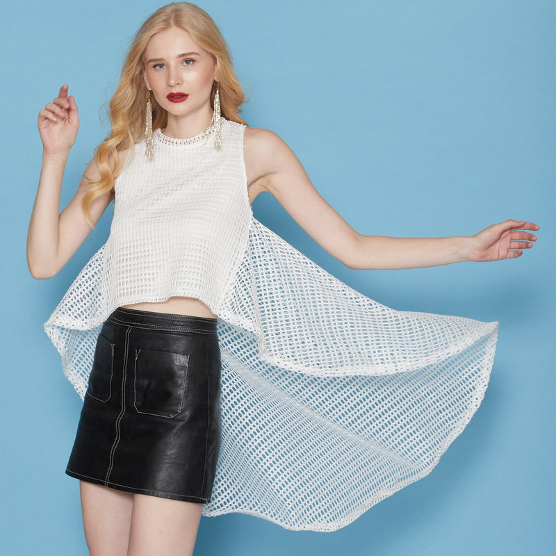 White Top ( Net ) Cape style