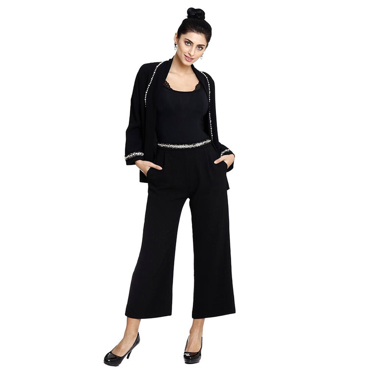 Black Pearl high waist Pants ( slightly cropped)