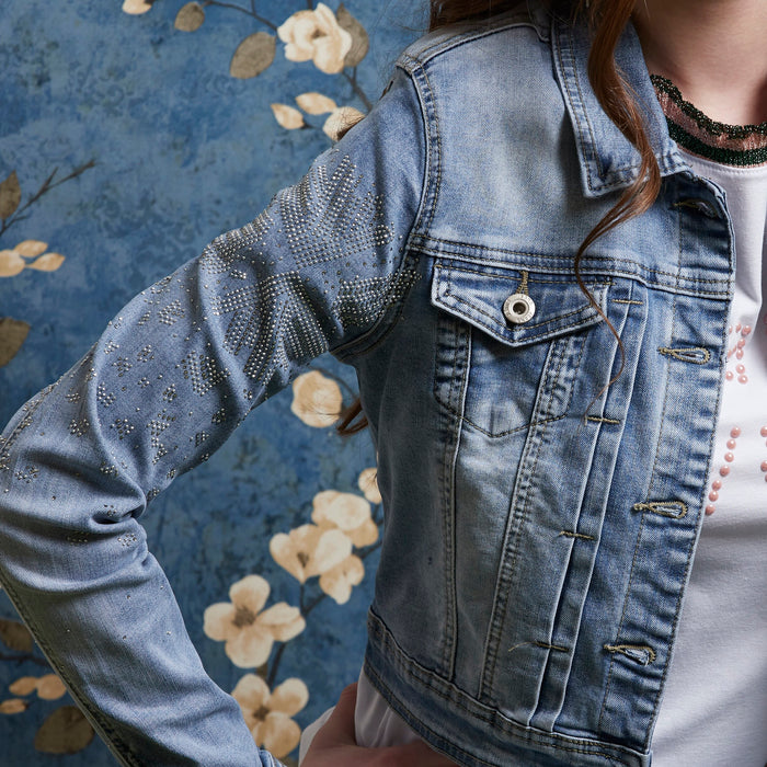 Denim Glitter Jacket