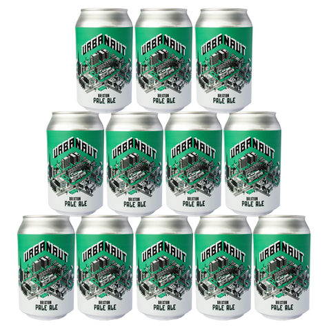 Twelve cans of Urbanaut Pale Ale beer