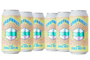 Six cans of Urbanaut beer