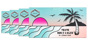Miami Brut Lager 4 x 8 Pack  - 4 x (8 x 250ml Cans)