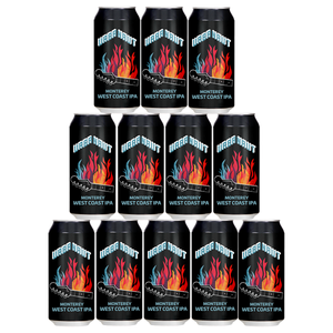 Twelve cans of Urbanaut Monterey West Coast IPA beer