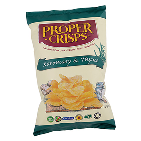 Proper Crisps Rosemary and Thyme - Large (150g)