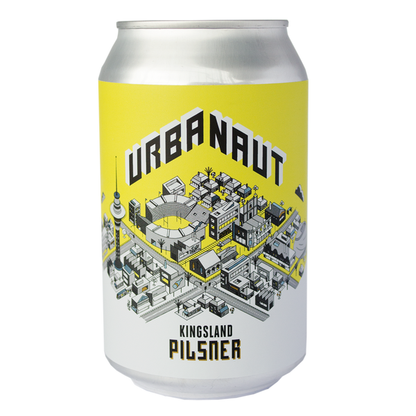 One can of Urbanaut Pilsner beer