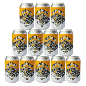 Twelve cans of Urbanaut Williamsburg IPA beer