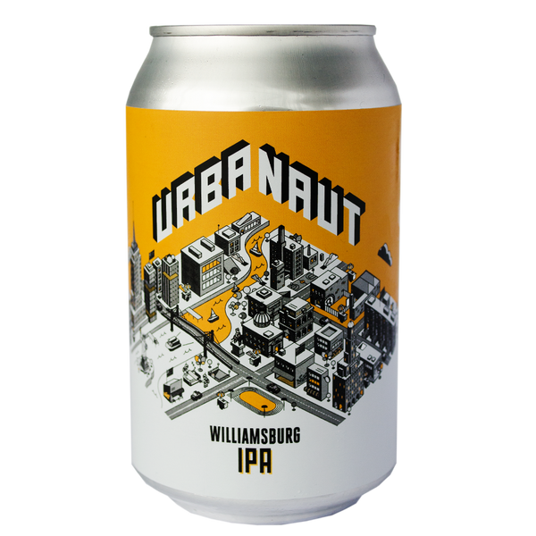 One can of Urbanaut Williamsburg IPA beer
