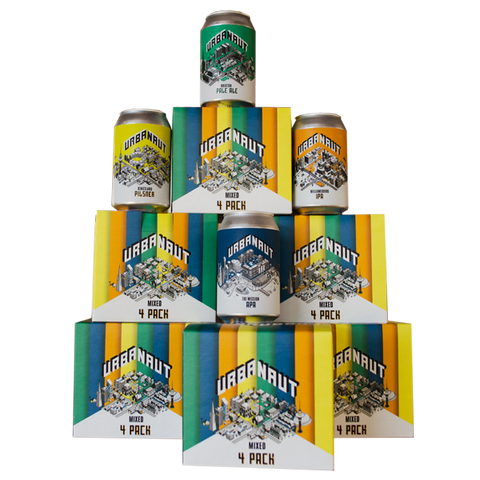 Mixed 4 Pack - 4 x 330ml Cans (IPA, APA, Pilsner, Pale Ale)