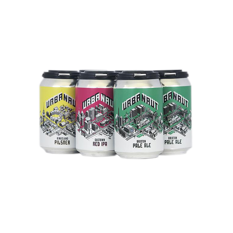 Six cans of beer from Urbanaut Brewing Co