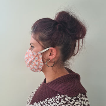Pink Flower Reusable Face Mask | Made in NZ