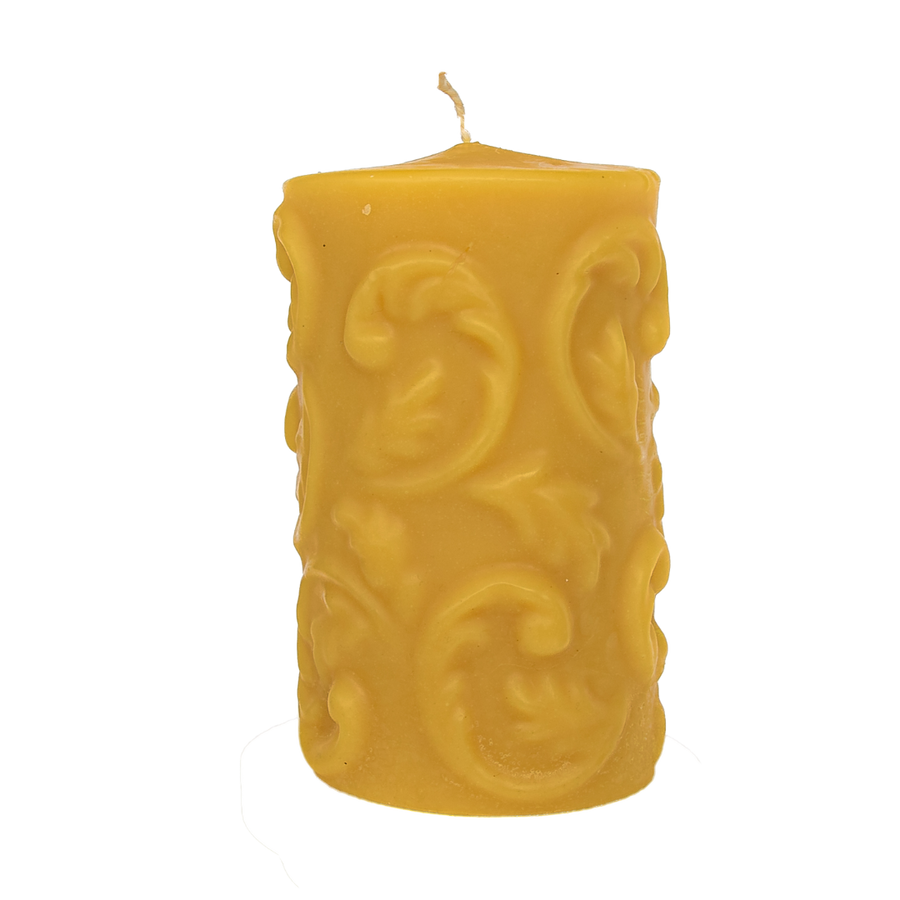 NEW! Fern Frond Beeswax Candle