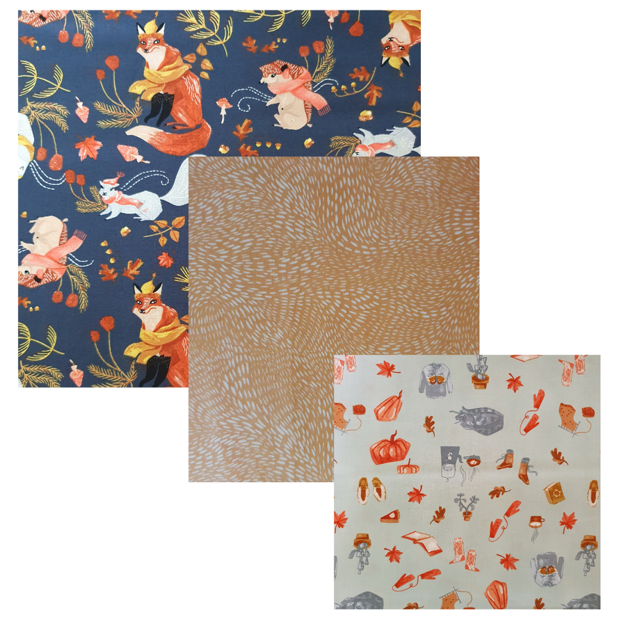 Autumn Wander Beeswax Food Wrap Starter Pack
