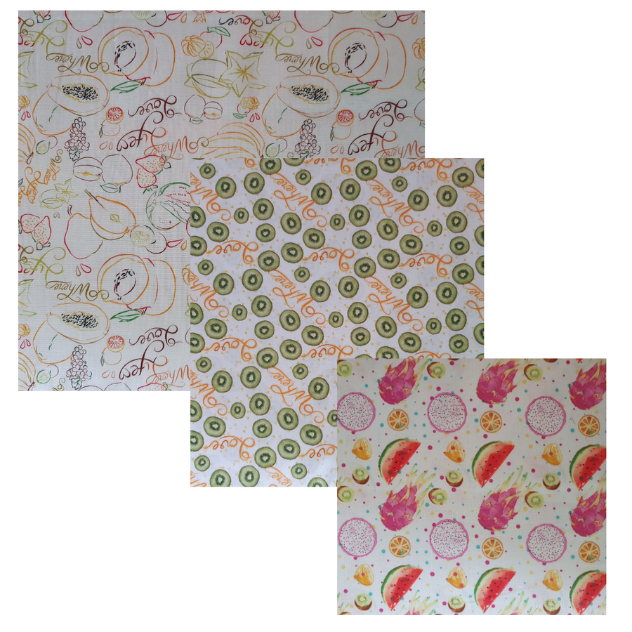 Tutti Frutti Beeswax Food Wrap Starter Pack