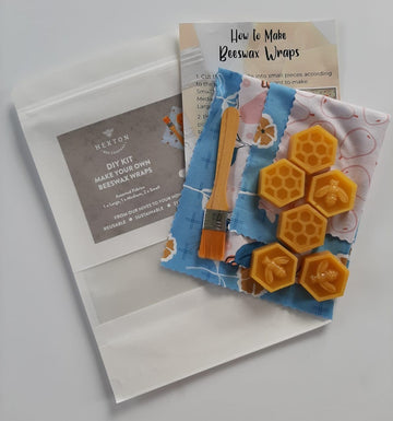 DIY Beeswax Wrap Kit Set of 4 wraps