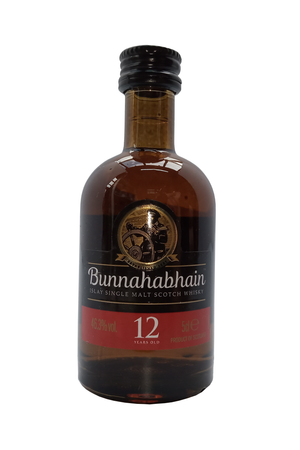 Bunnahabhain Islay Single Malt 12 Year Old whisky miniature 5cl 46.3%