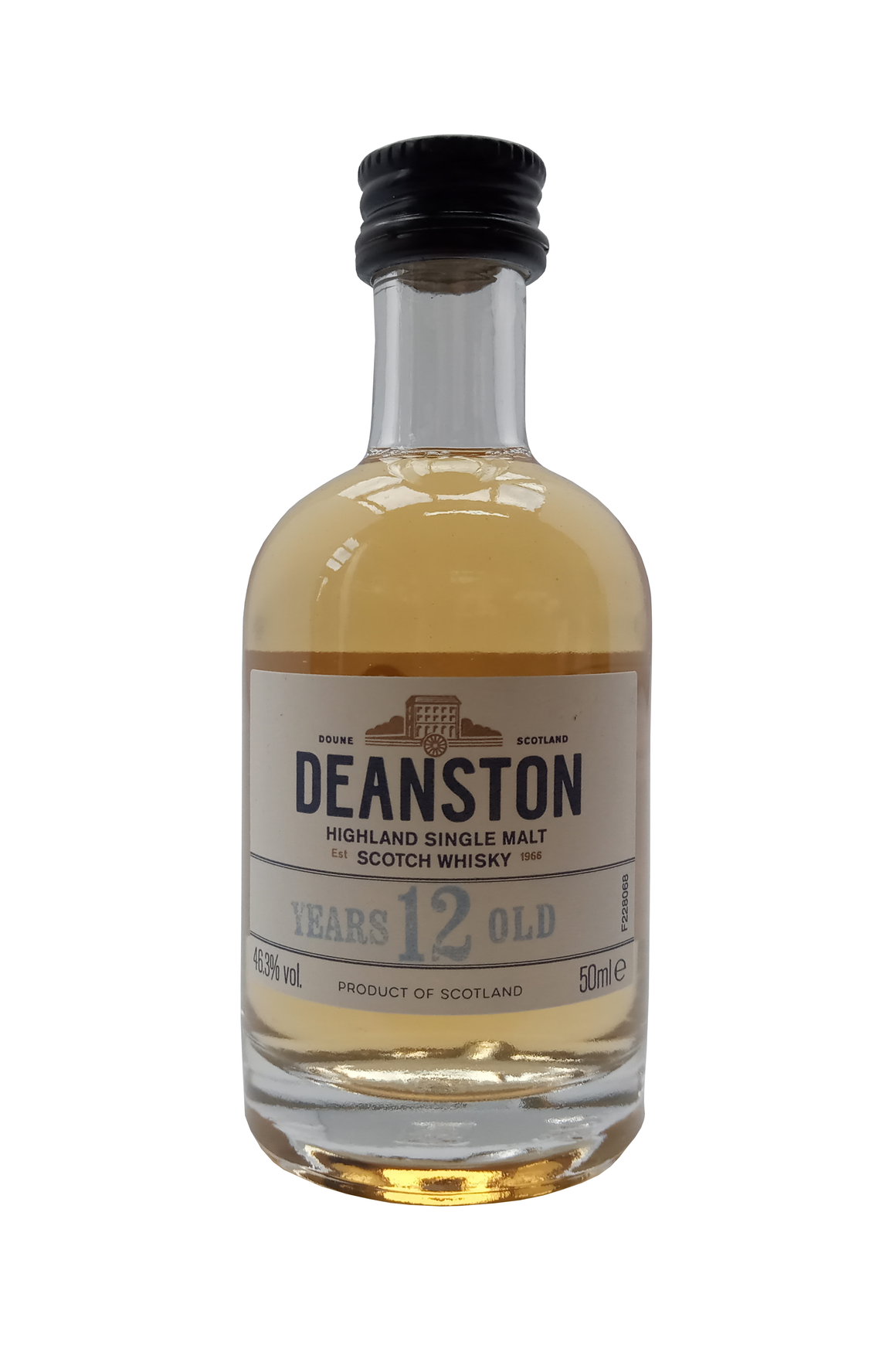 Deanston Aged 12 Years Single Malt miniature whisky 5cl 46.3%