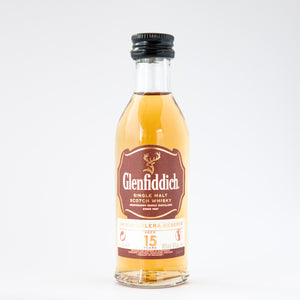 Glenfiddich Aged 15 Years Single Malt whisky miniature 5cl 40% vol.