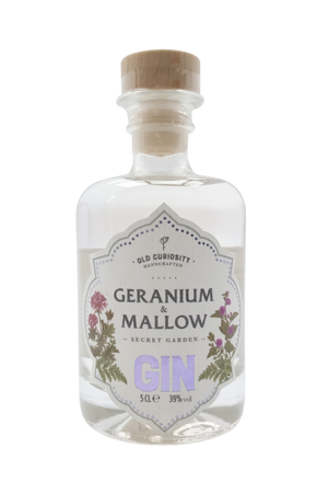 Old Curiosity Geranium and Mallow miniature gin 5cl 39%