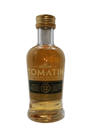 Tomatin Aged 12 Years whisky miniature 5cl 43% vol.