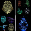 3D LED Lamp - Illusion Night Star Wars/Pokemon