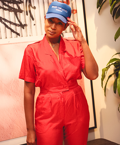 The Laura Red S/S Jumpsuit