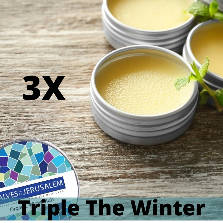 Organic Winter Rub Triple Pack - Salves of Jerusalem
