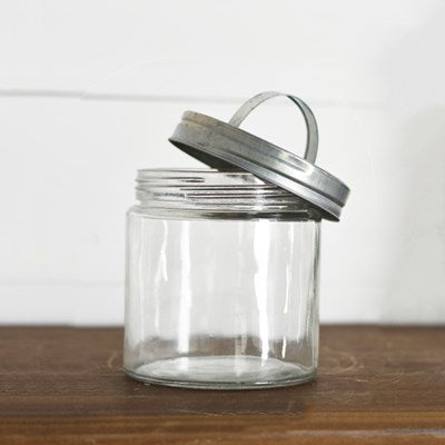 "6"" Glass Storage Jar"
