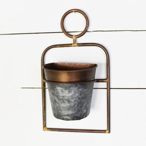 Tin and Copper Wall Planter