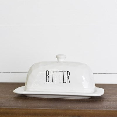 Butter Dish with word