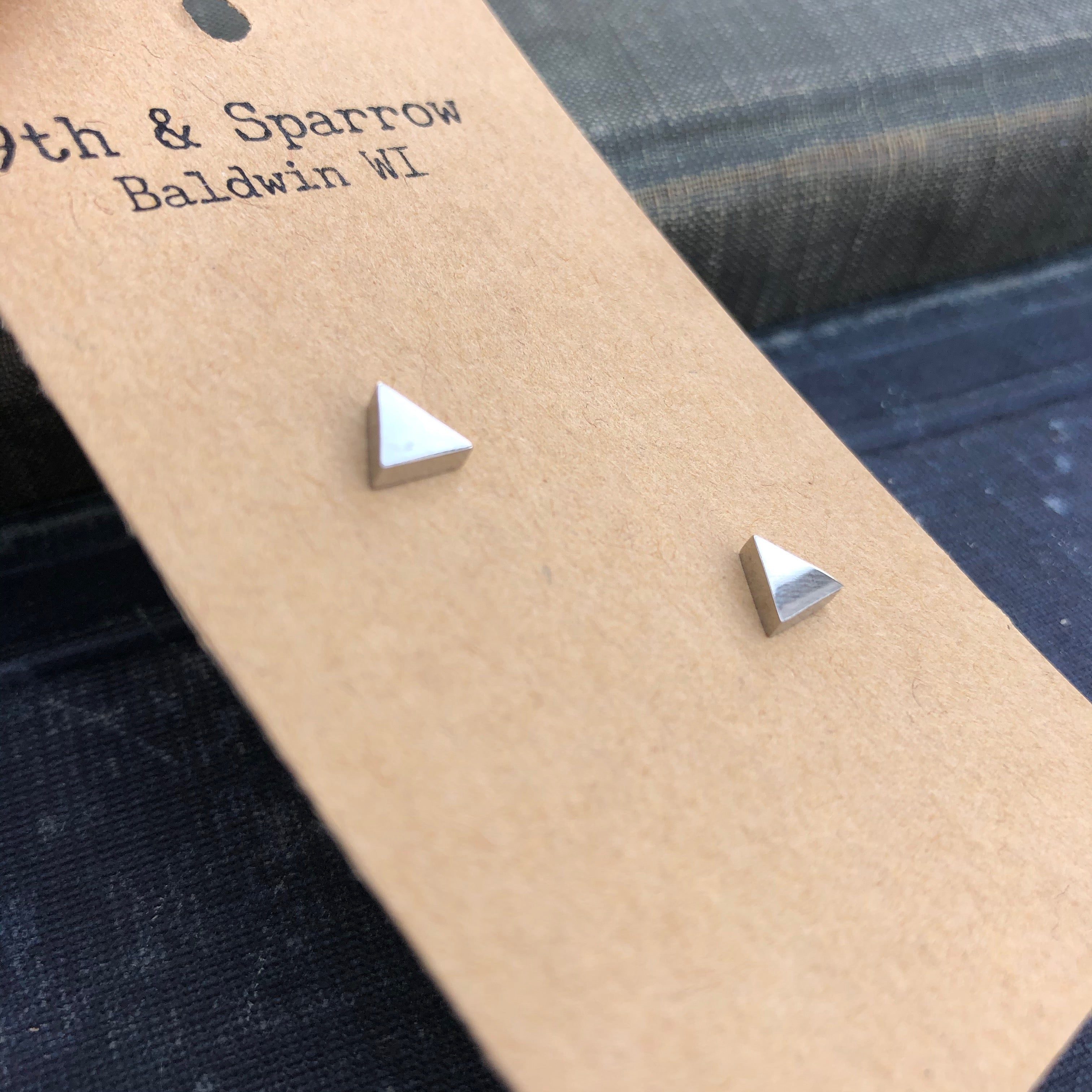 Simple Silver Shape Stud Earrings