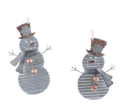 Metal Snowman ornament