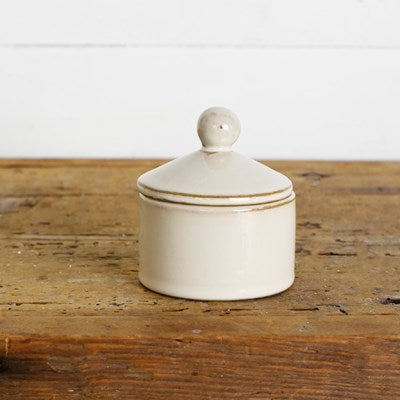 "3"" Ceramic Container with Lid"