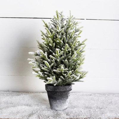 Frosted Tree in Pot