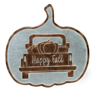 Galvanized Pumpkin Sign