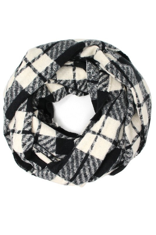 Infinity Loop Plaid Scarf