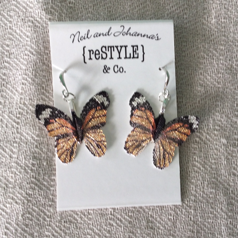 Metal Butterfly Earrings