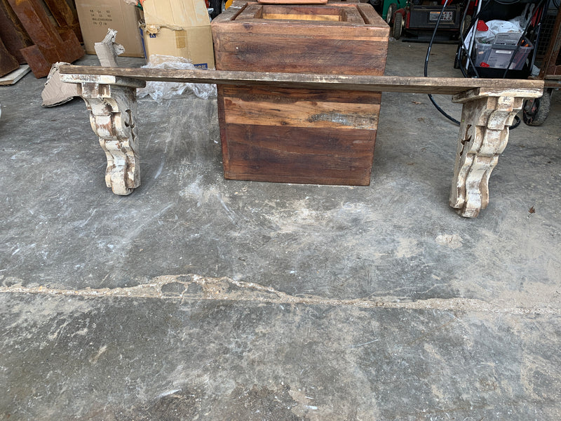 Wood Shelf With Corbels 48""